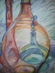 Compressed color charcoal 2014