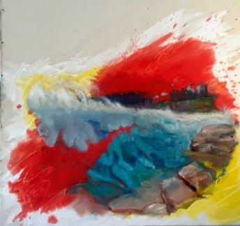 """""""Paint Pot,"""" Oil on canvas, 30 x 36"""", 2016 $450"""