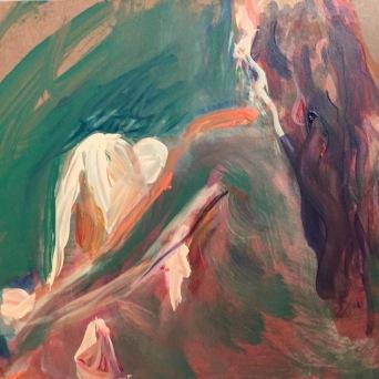 """L'Air du Temps,"" Acrylic on cradled panel, 20 x 16"" 2016 $250"